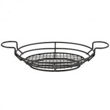Black Oblong Wire Basket with Ramekin Holders