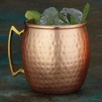 Copper Moscow Mule Mugs Hammered finish