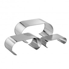 Hammered Stainless Steel Curl Riser Set