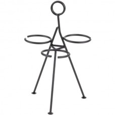 Wrought Iron 3-Cone Stand