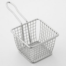 4 Inch Square Stainless Steel Mini Fry Basket