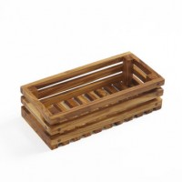 Olive Wood Bread Crate