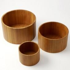 Round Bamboo Riser Set