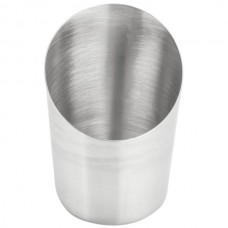 Satin Stainless Steel Angled French Fry Cup