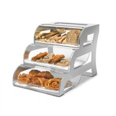 Bakery Display Case With Stainless Steel Stand