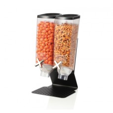 Two-Container Table Top Dispenser With Black Steel Stand