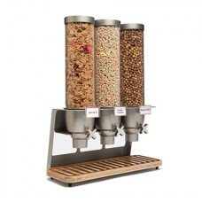 EZ-SERV® Three-Container Table Top Dispenser With Bamboo Tray