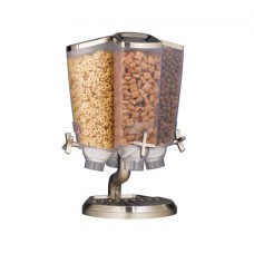 EZ-PRO™ Four-Container Carousel Table Top Dispenser With Stainless Steel Stand