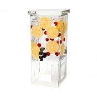 1 Gallon Rectangular Beverage Dispenser - Acrylic Base