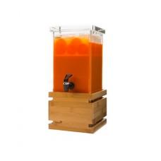 1 Gallon Rectangular Bamboo Base Beverage Dispenser