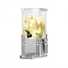 1 Gallon Rectangular Beverage Dispenser - Stainless Steel Base