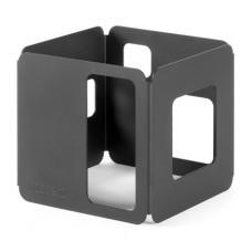 6 Inch Black Matte Steel Tall Square Riser