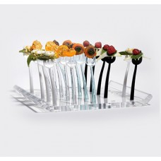 Clear Acrylic Trio Fork Tray – Holds 25